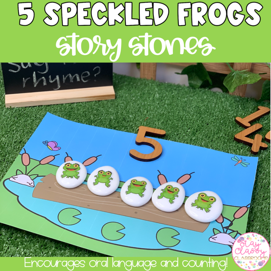 5 Speckled Frogs Story Stone Printables
