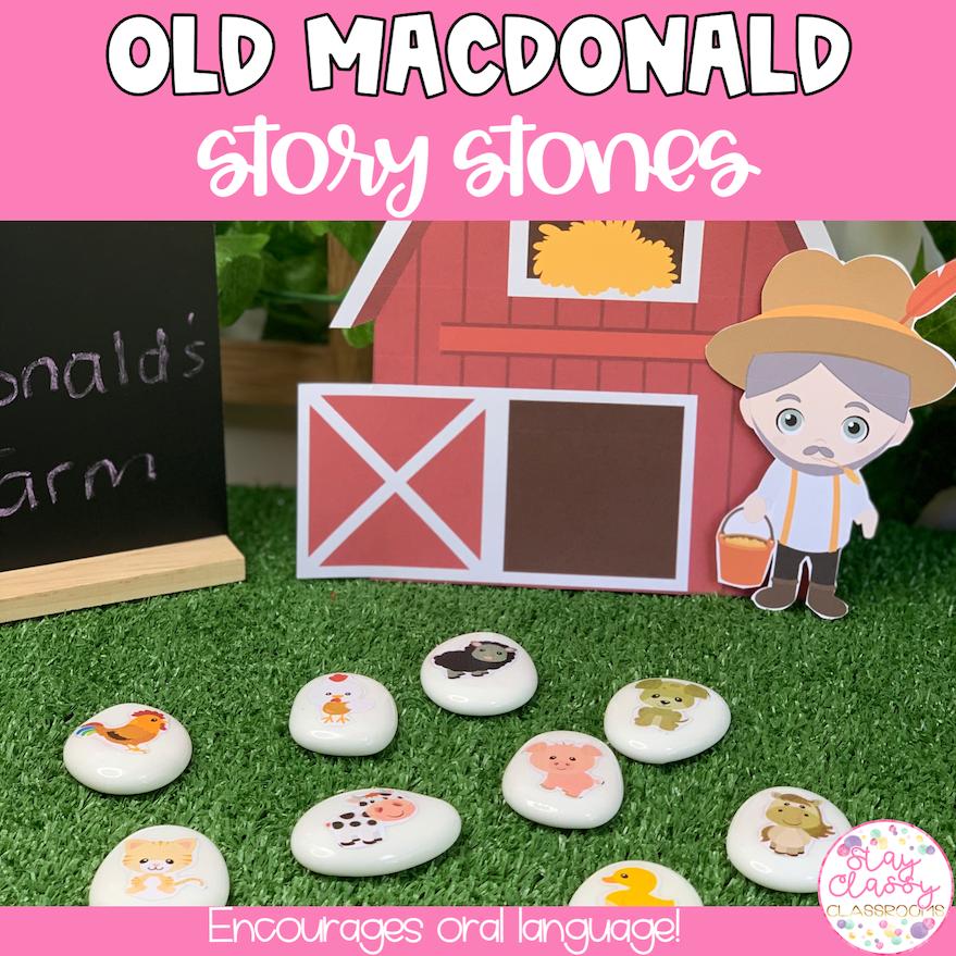 Old Macdonald's Farm Story Stone Printables