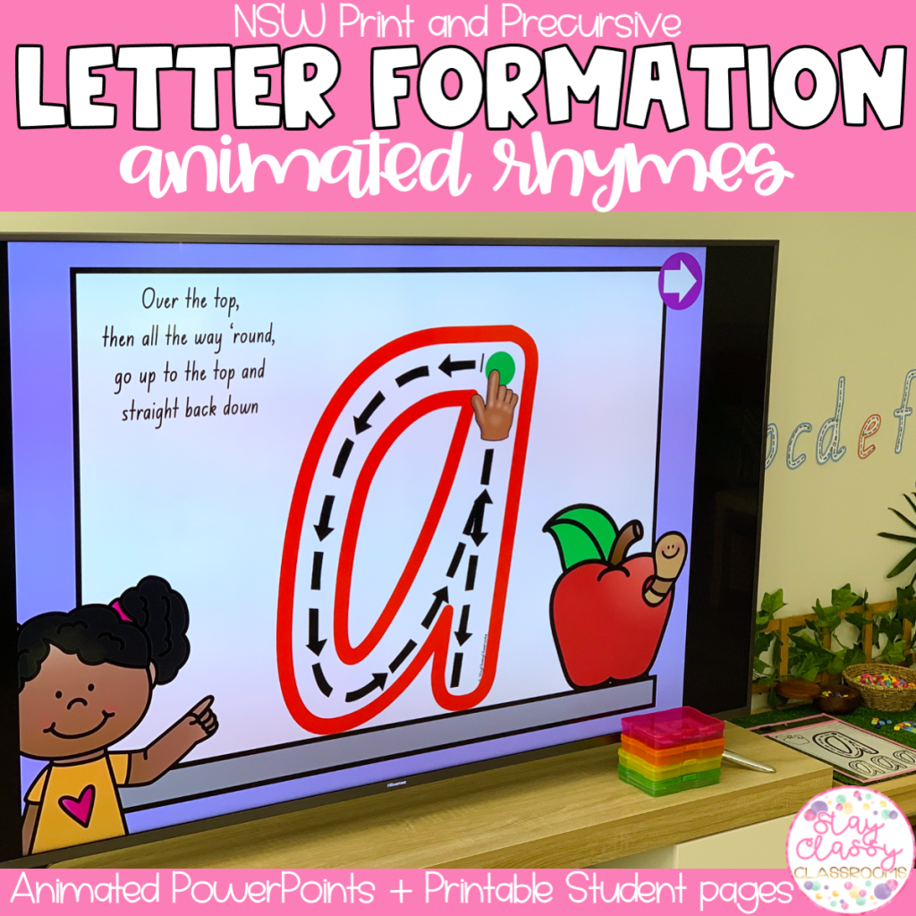 Letter Formation Rhymes Animated PowerPoint   NSW Print & Precursive
