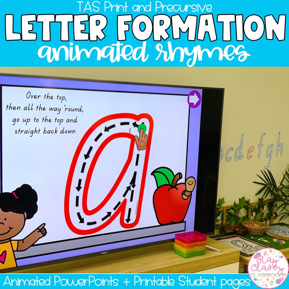etter Formation Rhymes Animated PowerPoint   TAS Print & Precursive